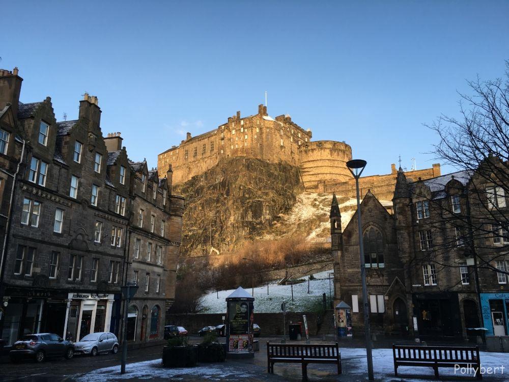 Edinburgh Castle seen from the Grassmarket @Edinburgh, Soctland