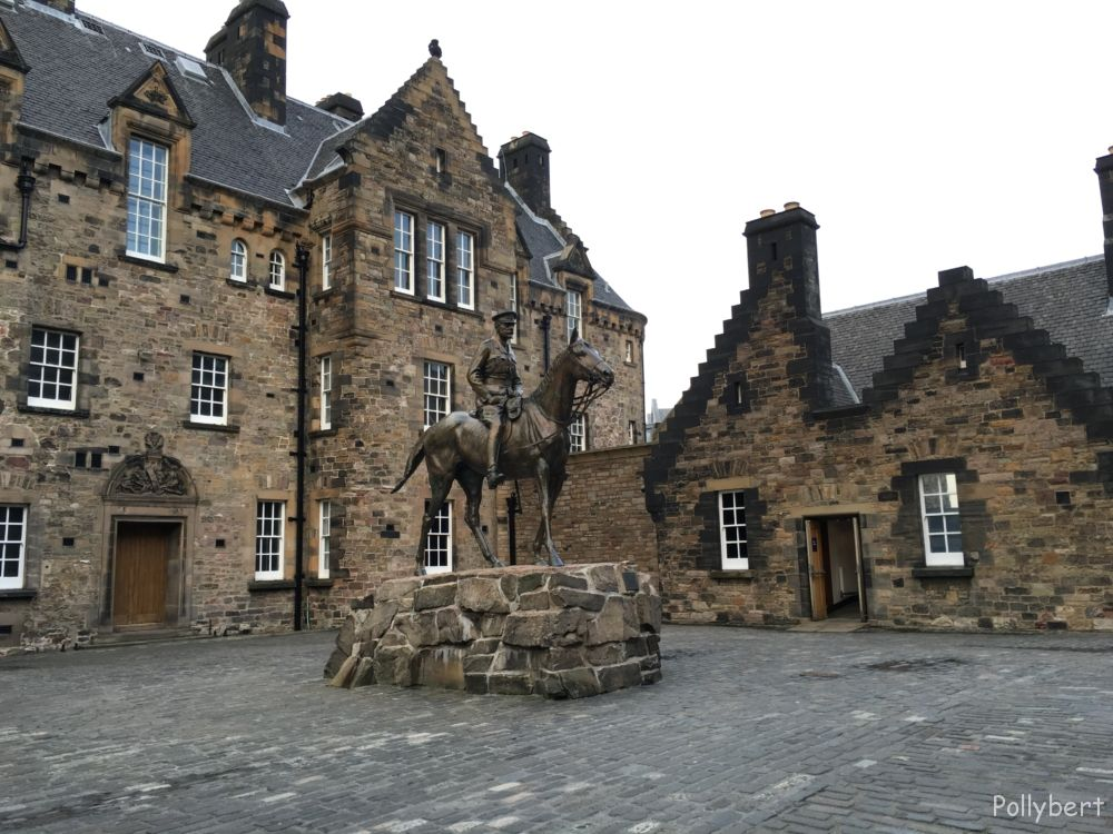 Douglas Haig, the butcher of WWI banned to the last court yard in Edinburgh Castle @Edinburgh, Scotland