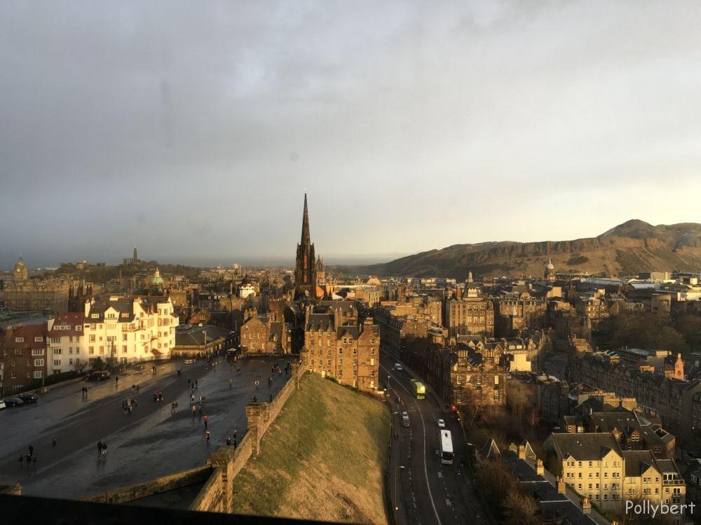 view over Edinburgh from the Castle @Edinburgh, Scotland