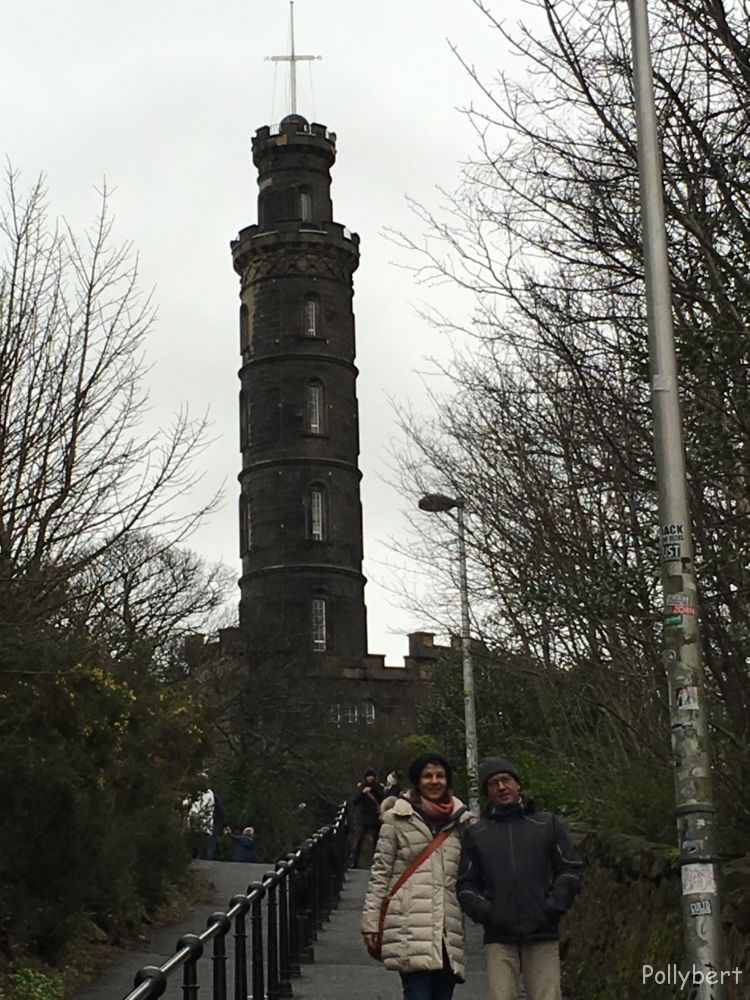 Nelson Monument at Carlton Hill @Edinburgh, Scotland
