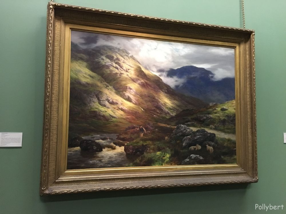 Highland scene at National Gallery @Edinburgh, Scotland