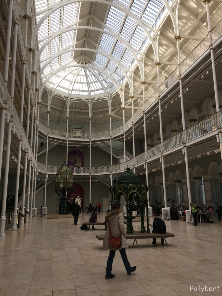 entrance hall at National Museum of Scotland @Edinburgh, Scotland