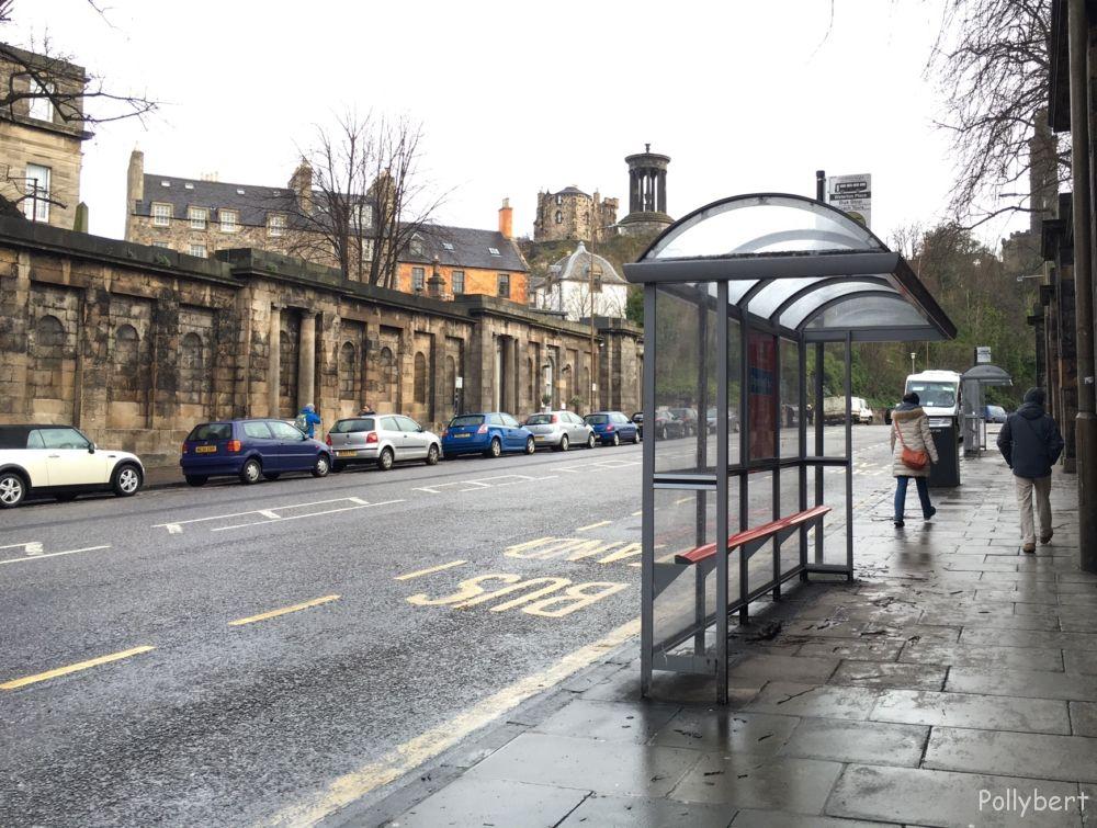 Bus station @Edinburgh, Scotland