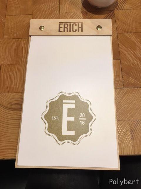 menu @Erich, Vienna
