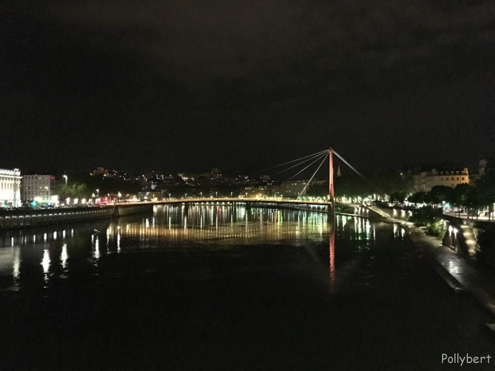 Saone by night @Lyon