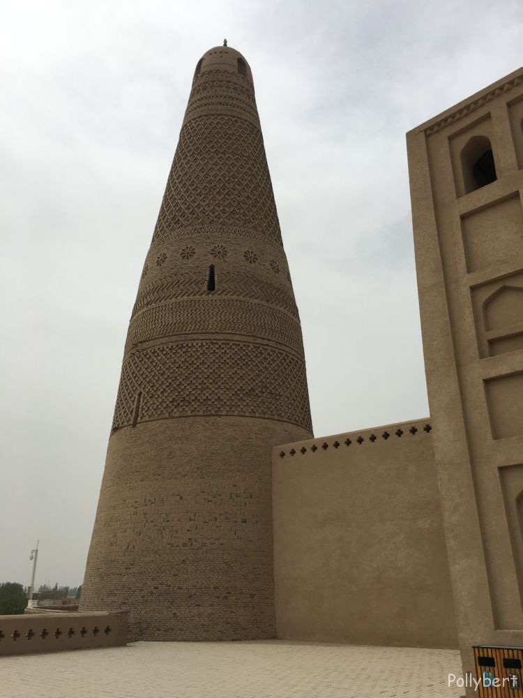 the beautiful carved tower @Emin Minaret