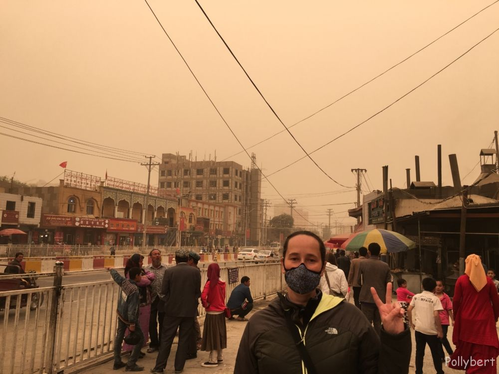 walking around in Hotan