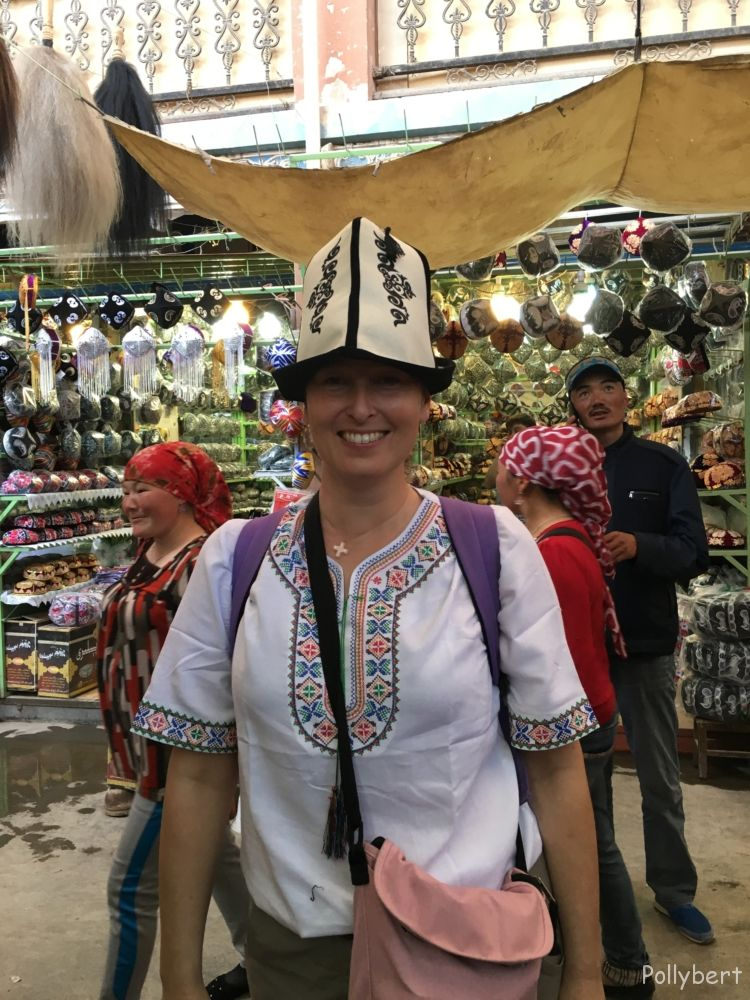 typical hat of Kyrgyzstan @daily market Kashgar