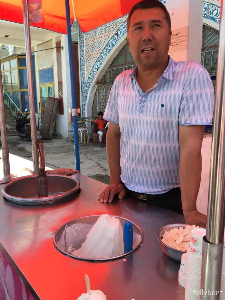 ice cream vendor @Kashgar