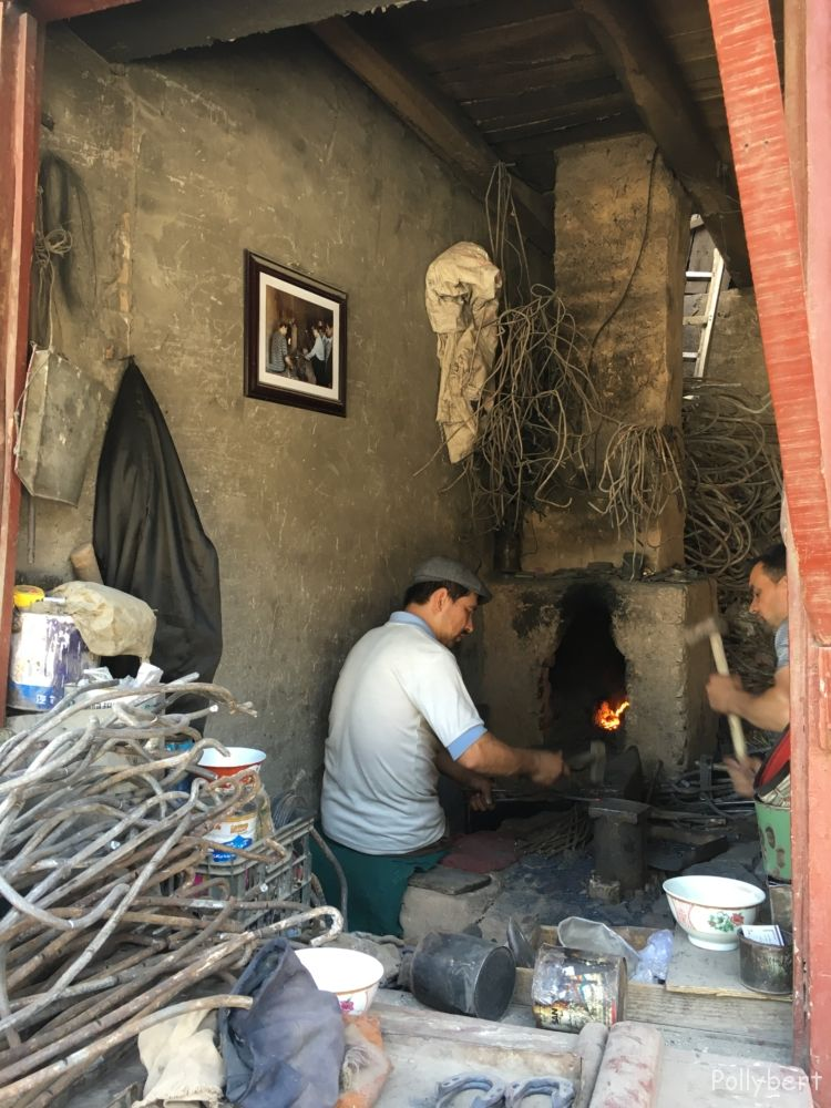 black smith with furnace @Kashgar