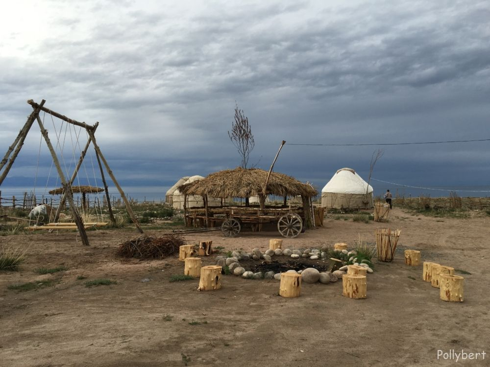 yurt camp at the south side of Issky Kul