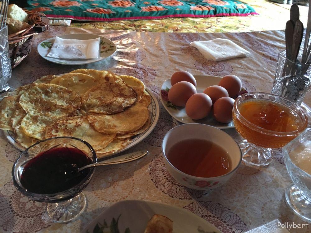 breakfast @yurt camp Issyk-Kul