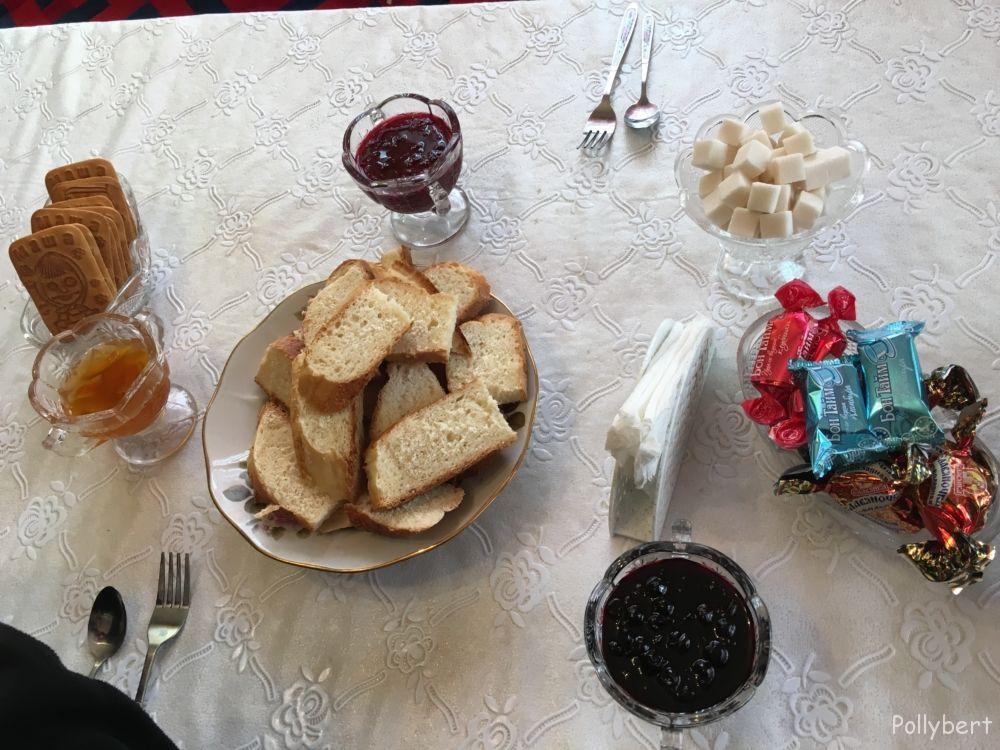 usual fare on a Kyrgyz table