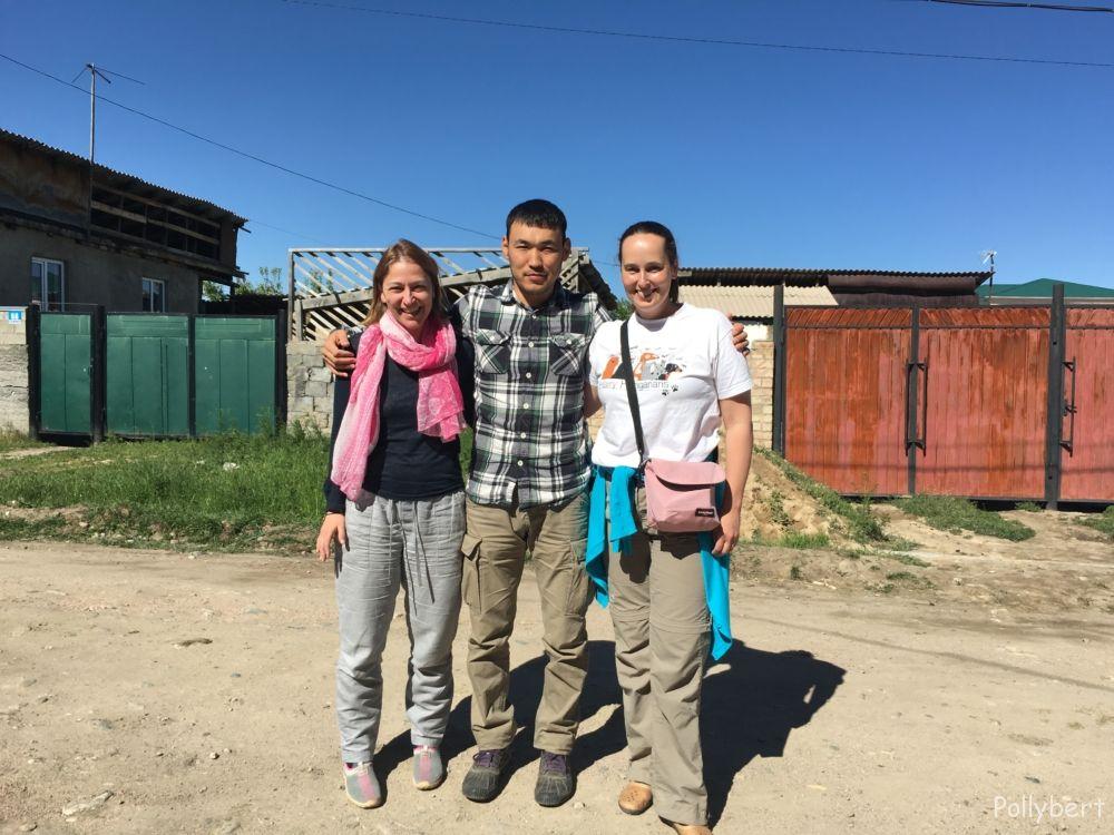Pollybert, Tilek and Sylvia @Kyrgyzstan