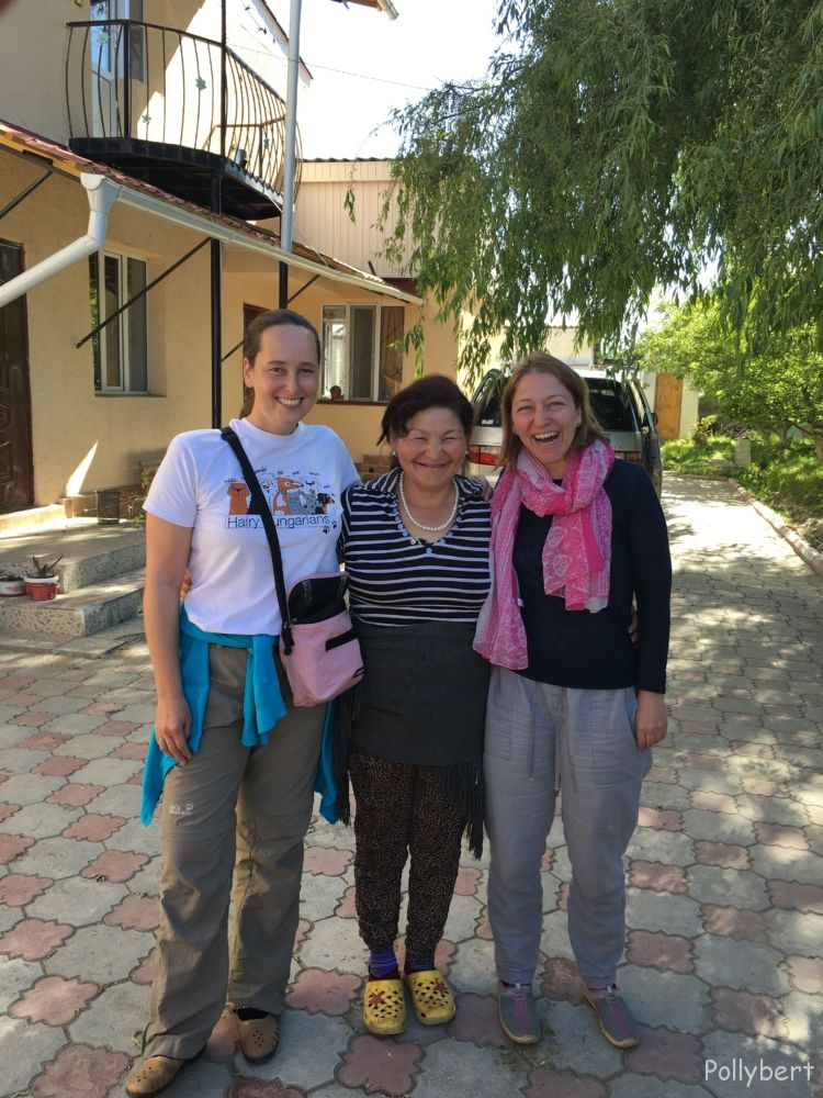 Sylvia, hostess and Pollybert @Kyrgyzstan