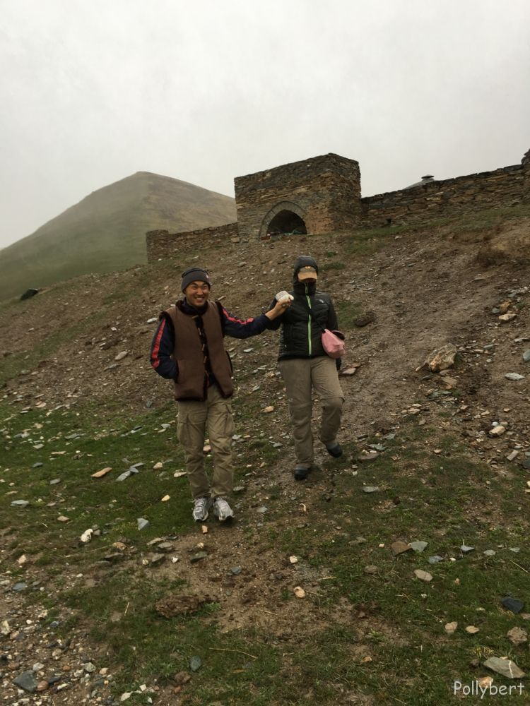Sylvia with Tilek @Tash Rabat