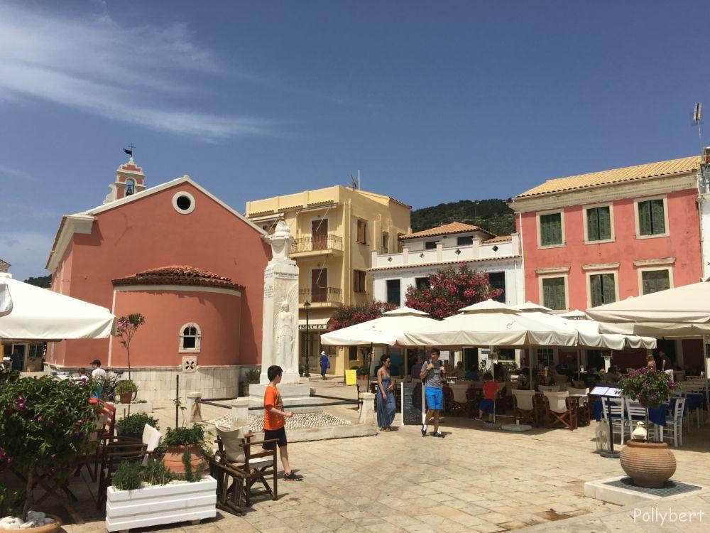 main square of Gaios @Paxos