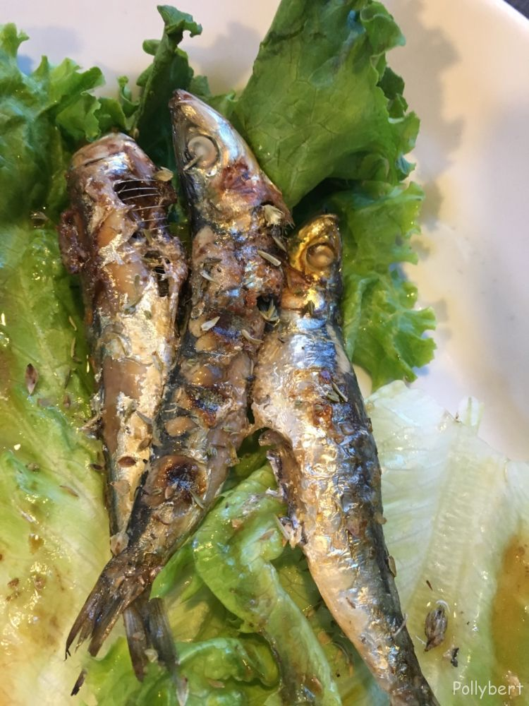 grilled sardines with green sauce @Paxos
