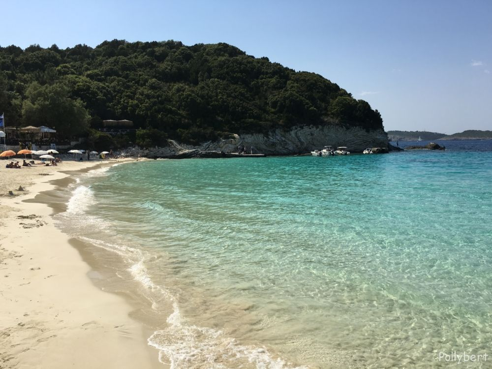 Sandy beach @Antipaxos