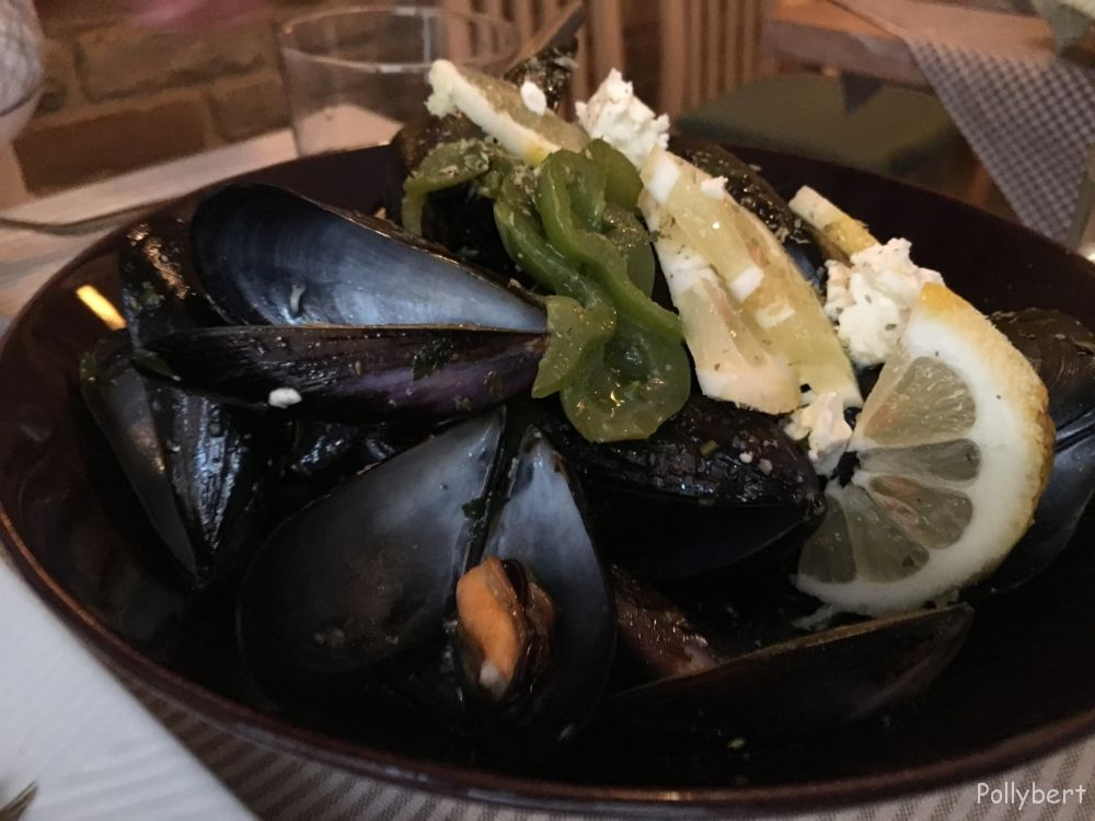 mussels with feta @Corfu