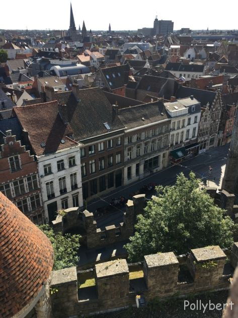 view on Ghent from Gravensteen