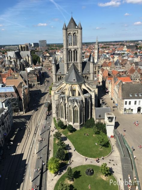 view from Belfry on Saint Nicholas' Church @Ghent