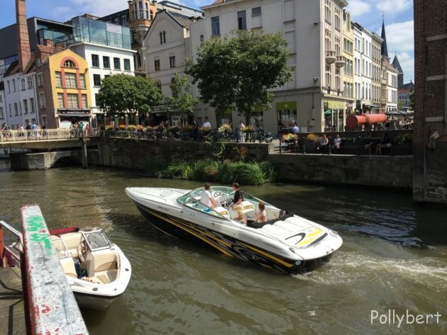 not just tourist boats on the canals @Ghent