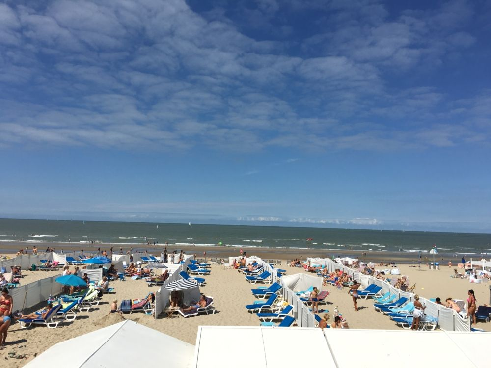 the beach at 2pm @De Haan