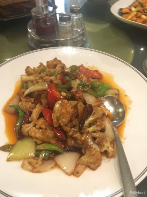 cauliflower with chili, peppers and onions @Ostwind