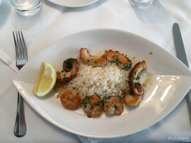 grilled shrimps and calamari @Eckel
