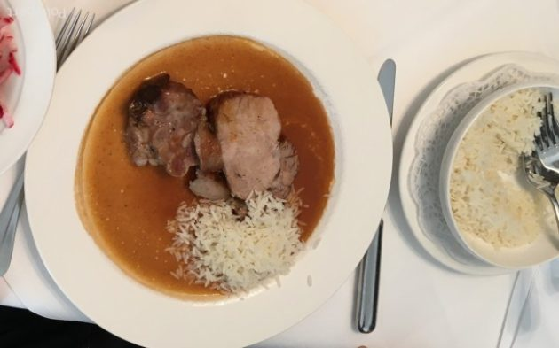 roasted veal with rice @Eckel