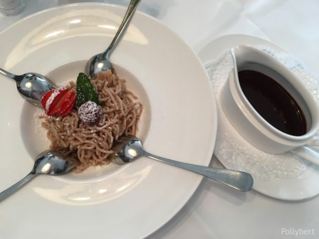 chestnut rice with whipped cream @Eckel