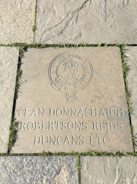plaque outside the visitor centre @Culloden