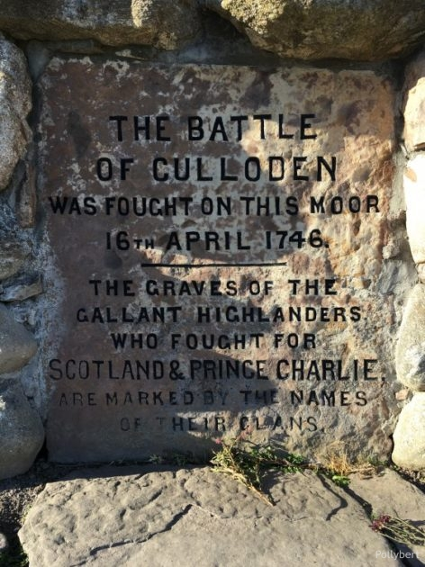 inscription of memorial cairn @Culloden