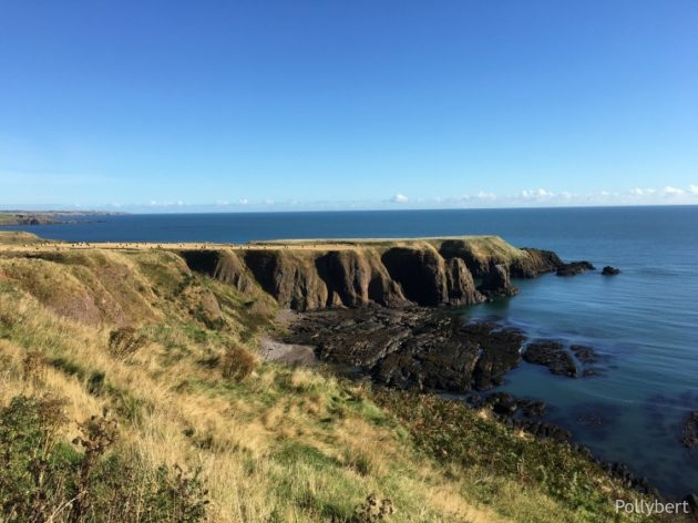 on the way to Dunnottar Castle