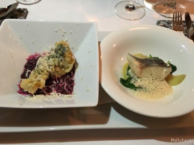 crunchy carp and poached char @Gasthaus Freyenstein