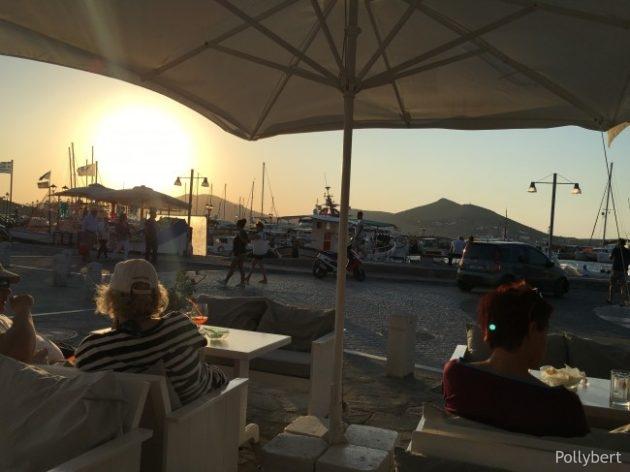 sundowner in the port of Naoussa @Paros