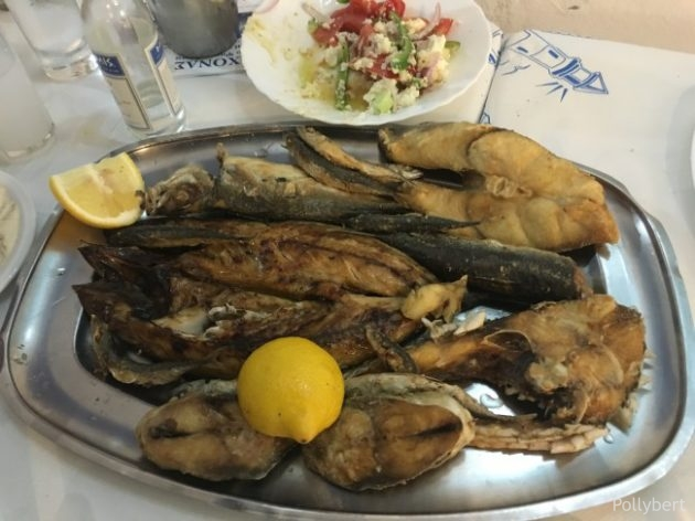 grilled fish variety, came in close second behind the worst dinner of the week @Naoussa