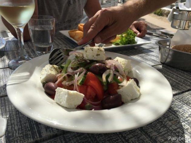 Greek salad @Pinky Beach
