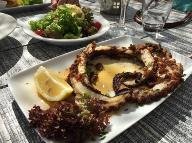 grilled octopus @Pinky Beach